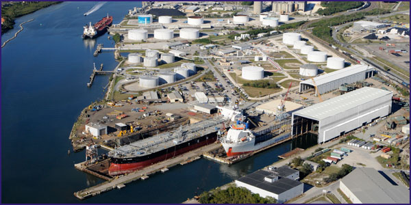 Aerial Photo of Tampa Ship